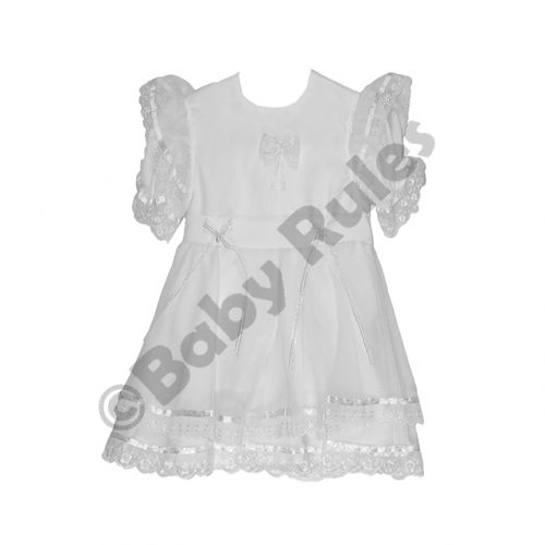 Christening Girls White Pantaloon Set With Lace