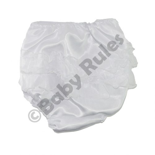 Christening Girls Satin Frilly Pantie