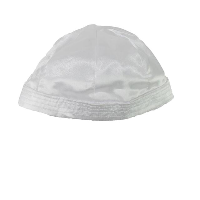 Boys White Satin Christening Hat