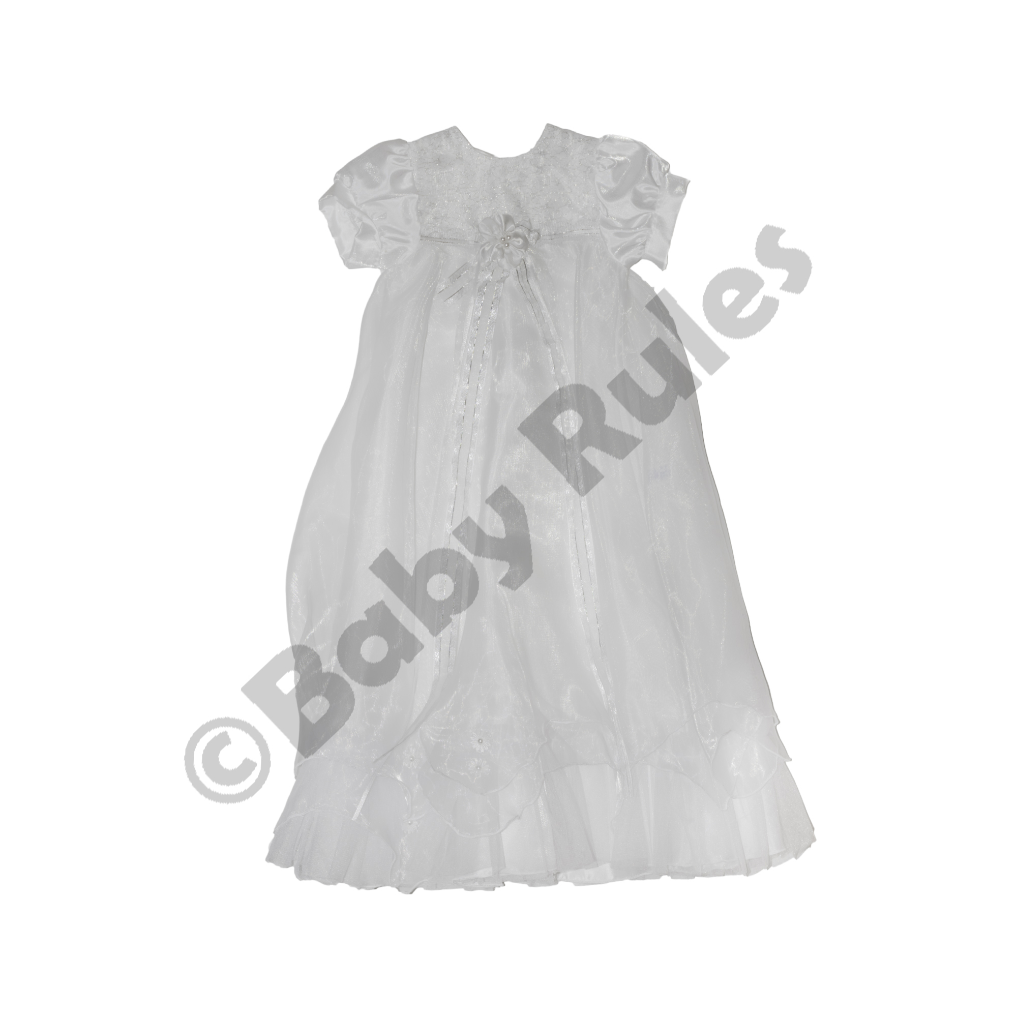 0edc76af6d Christening Girls Dress - Long Summer Robe with flower detail - Baby ...